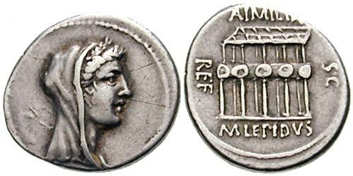 aemilia roman coin denarius