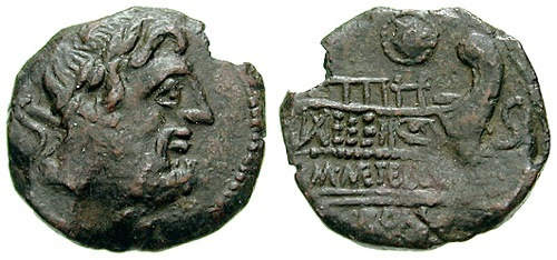 caecilia roman coin as