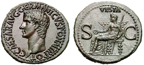 caligula roman coin as