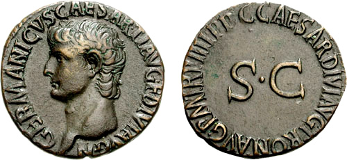Roman coin - Caligula - Ae As