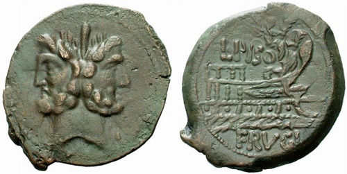 calpurnia roman coin as