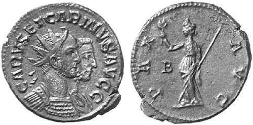 Roman coin - Carus and Carinus - Ae Antoninianus