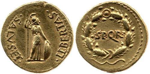 Roman coin - Civil Wars - Gold Aureus