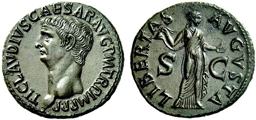 Roman coin - Claudius - Ae As