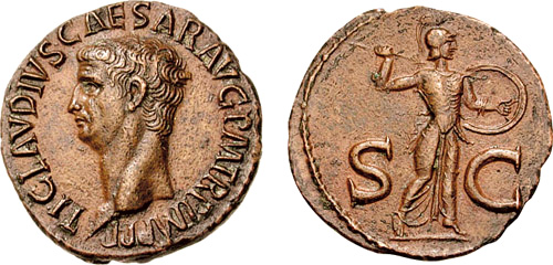 claudius roman coin as