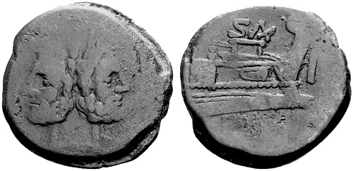 clovia roman coin as