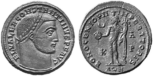 constantine ist the great roman coin follis
