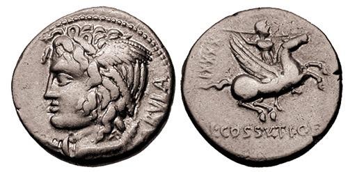 cossutia roman coin denarius
