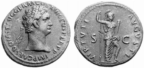 domitian roman coin as