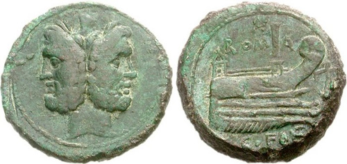 fonteia roman coin as