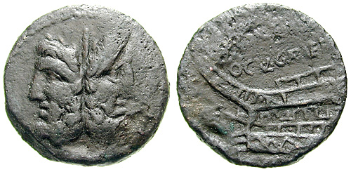 gargilia roman coin as
