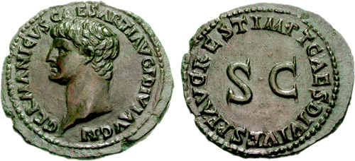 germanicus roman coin as