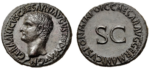 Roman coin - Germanicus - Ae As