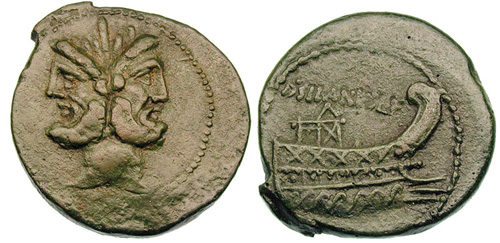 junia roman coin as