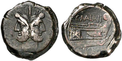 maiania roman coin as