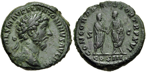 marcus aurelius roman coin as