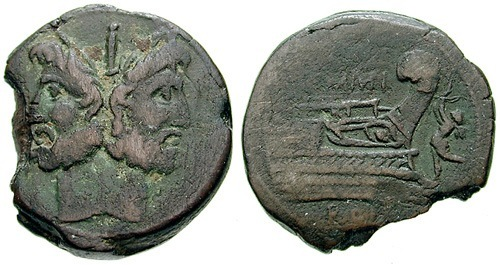 memmia roman coin as