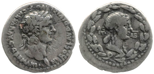 nero and agrippina roman coin 12-as
