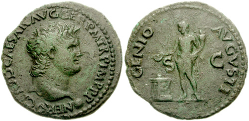 nero roman coin as