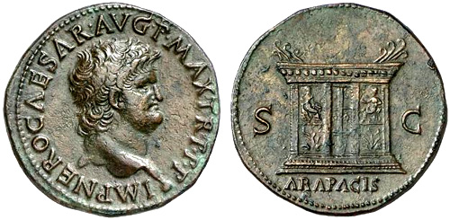 Roman coin - Nero - Ae As