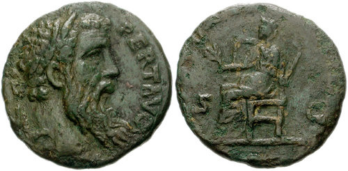 pertinax roman coin as