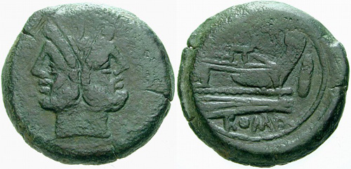 pinaria roman coin as
