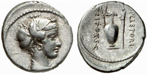 plaetoria roman coin denarius