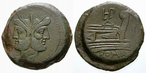 plautia roman coin as