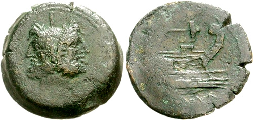poblicia roman coin as