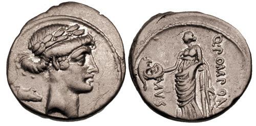 pomponia roman coin denarius