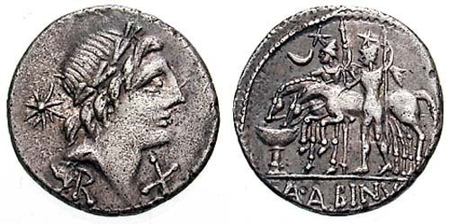 postumia roman coin denarius