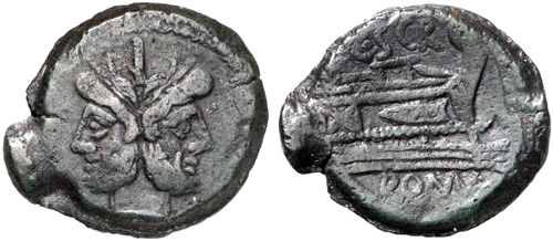 scribonia roman coin as