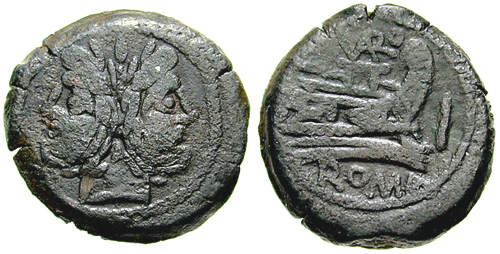 terentia roman coin as