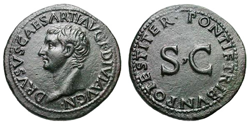 Roman coin - Tiberius - Ae As