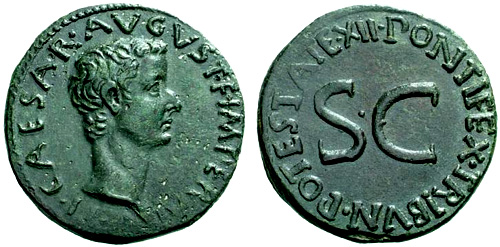 tiberius roman coin as