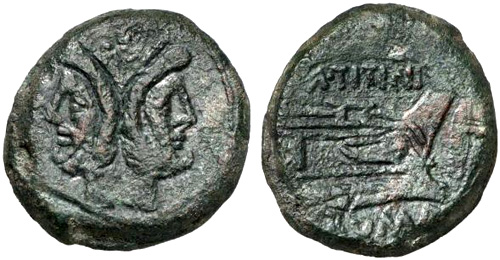 titinia roman coin as