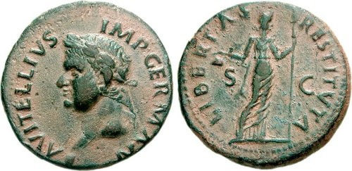 Roman coin - Vitellius - Ae As
