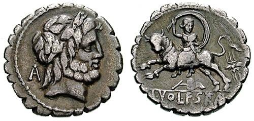 volteia roman coin denarius